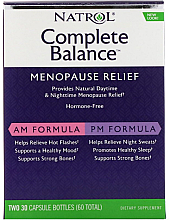 Духи, Парфюмерия, косметика Полный баланс во время менопаузы, утро/вечер - Natrol Complete Balance Menopause Relief