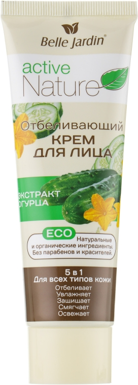 Отбеливающий крем с экстрактом огурца для лица - Belle Jardin Active Nature Face Cream