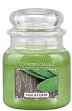 Духи, Парфюмерия, косметика Ароматическая свеча - Country Candle Sage and Cedar