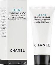 Духи, Парфюмерия, косметика Аква-молочко для снятия макияжа с защитой от загрязнений окружающей среды - Chanel Le Lait Fraicheur D'eau (пробник)