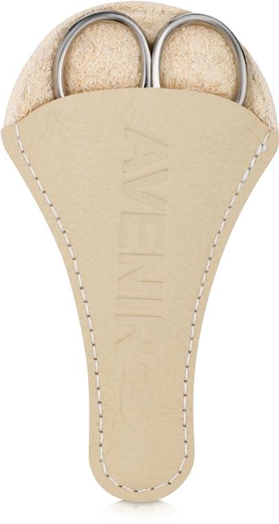 Ножницы маникюрные в чехле, 45-08 - Avenir Cosmetics