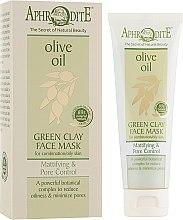 Духи, Парфюмерия, косметика Маска для лица с зеленой глиной матирующая и сужающая поры - Aphrodite Olive Oil Green Clay Face Mask