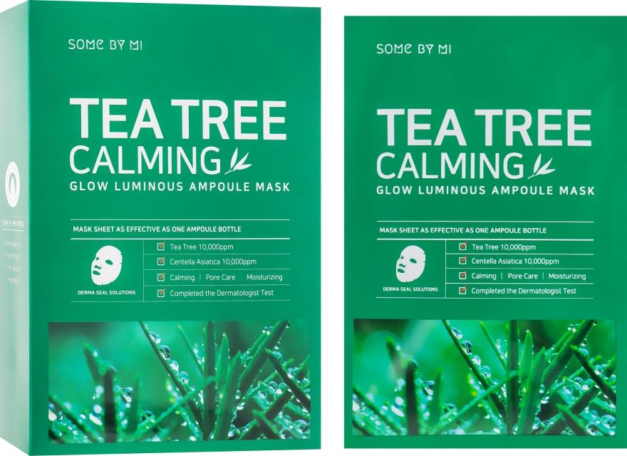 Успокаивающая маска с чайным деревом - Some By Mi Tea Tree Calming Glow Luminous Ampoule Mask