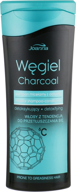 Мицеллярный шампунь-кондиционер - Joanna Charcoal Micellar Shampoo-Conditioner