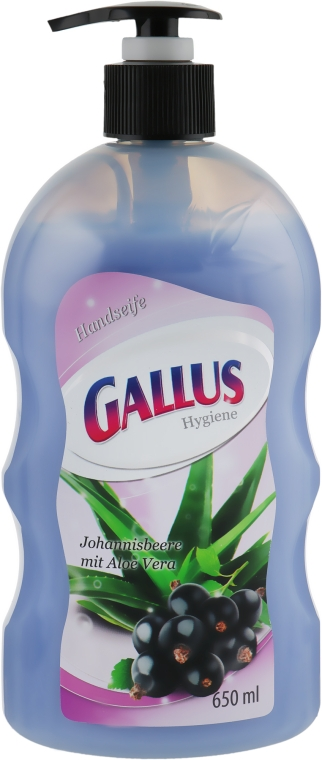 Жидкое мыло для рук с ароматом черной смородины и экстрактом алоэ вера - Gallus Soap