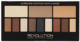 Парфумерія, косметика Палетка тіней для повік, 12 відтінків - Makeup Revolution Ultra Eye Contour Light and Shade