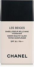 Духи, Парфюмерия, косметика Увлажняющий оттеночный флюид с эффектом естественного сияния - Chanel Les Beiges Sheer Healthy Glow SPF 30/PA++
