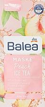"""Духи, Парфюмерия, косметика Маска для лица """"Персиковый чай со льдом"""" - Balea Peach Ice Tea Gel Face Mask"""