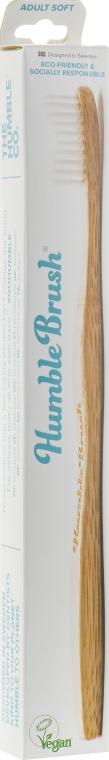 Зубная щетка, мягкая, белая - The Humble Co.