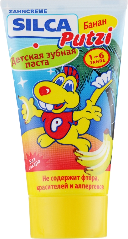 """Детская зубная паста """"Со вкусом банана, без фтора"""" - Silca Putzi"""