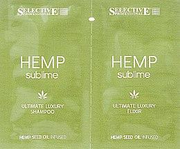 Парфумерія, косметика Набір пробників - Selective Professional Hemp Sublime (sh/10ml + elixir/5ml)