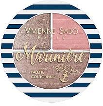Палетка для скульптурирования лица - Vivienne Sabo Marinière Palette Contouring — фото N2