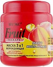 Духи, Парфюмерия, косметика Маска 3 в 1 для тусклых и окрашенных волос «Манго, масло авокадо» - Витэкс Fruit Therapy