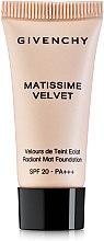 Духи, Парфюмерия, косметика Тональная основа - Givenchy Matissime Velvet Fluid Fondation SPF20 (мини)