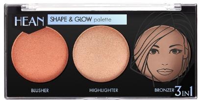 Моделирующая палетка для макияжа - Hean Shape & Glow Palette