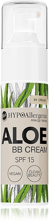 Гипоаллергенный тональный крем флюид - Bell Hypo Allergenic Aloe BB Cream SPF15
