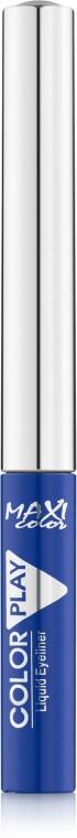 Жидкая подводка для глаз - Maxi Color Play Eyeliner