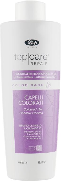 Кондиционер для ухода за окрашенными волосами - Lisap Top Care Repair Color Care pH Balancer Conditioner — фото N3