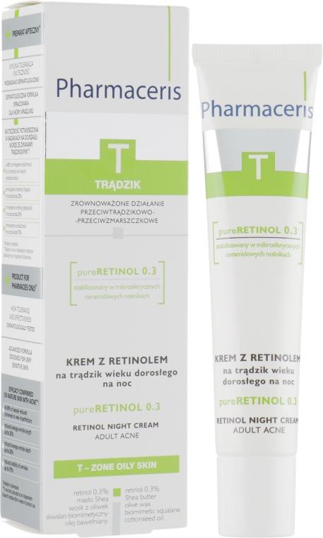 Ночной крем с ретинолом - Pharmaceris T Pure Retinol 0.3%