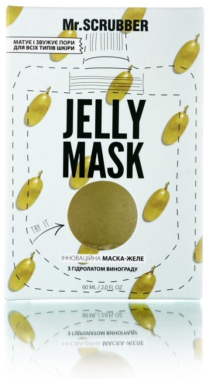 Гелевая маска для лица с гидролатом винограда - Mr.Scrubber Jelly Mask