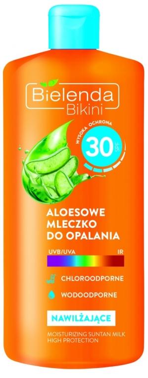 Молочко для загара с алоэ - Bielenda Bikini Tanning Aloe Lotion SPF30