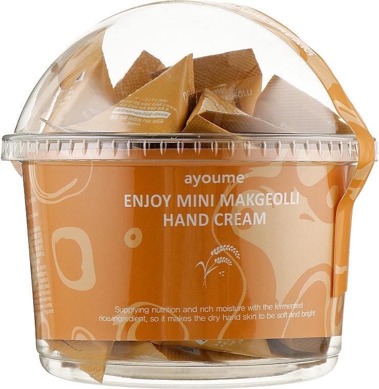 "Крем для рук ""Макколли"" - Ayoume Enjoy Mini Makgeolli Hand Cream"