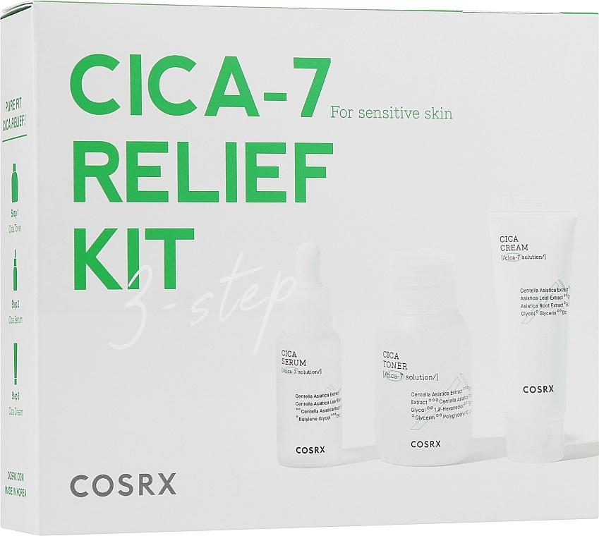 Набор для ухода за чувствительной кожей - Cosrx Pure Fit Trial Kit (toner/30ml+serum/10ml+cr/15ml)