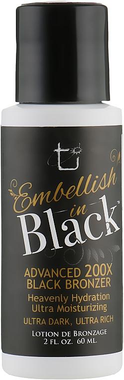 Крем для солярия с ультратемными бронзантами, ультра увлажнением и ультра уходом - Tan Inc Embellish In Black 200X