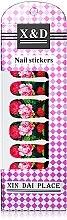 Духи, Парфюмерия, косметика Водные наклейки для ногтей, розово-малиновые пионы - Элита