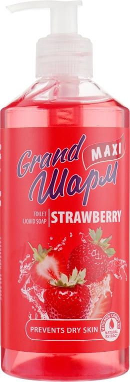 """Мыло жидкое """"Клубника"""" - Grand Шарм Maxi Strawberry Toilet Liquid Soap"""