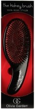 Духи, Парфюмерия, косметика Щетка массажная - Olivia Garden Kidney Brush 100% Boar (red)