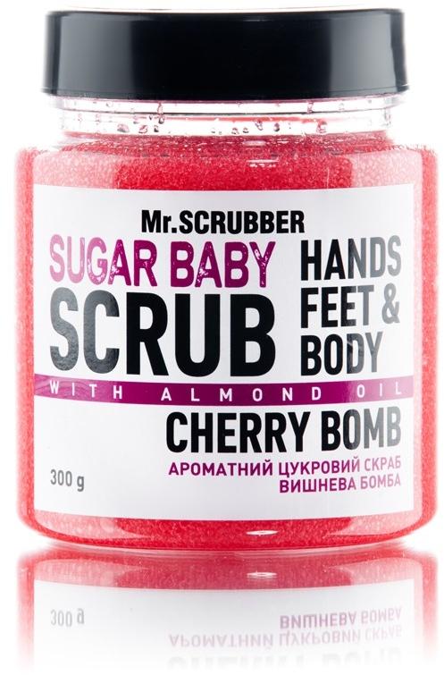 "Сахарный скраб для тела ""Cherry Bomb"" - Mr.Scrubber Shugar Baby Hands Feet & Body Scrub"