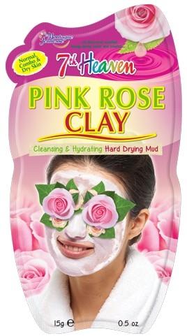 """Глиняная маска для лица """"Дамасская роза"""" - 7th Heaven Pink Rose Clay Mask"""