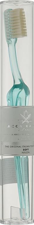 Зубная щетка мягкой жесткости, бирюзовая - Acca Kappa Tooth Brush Nylon Soft