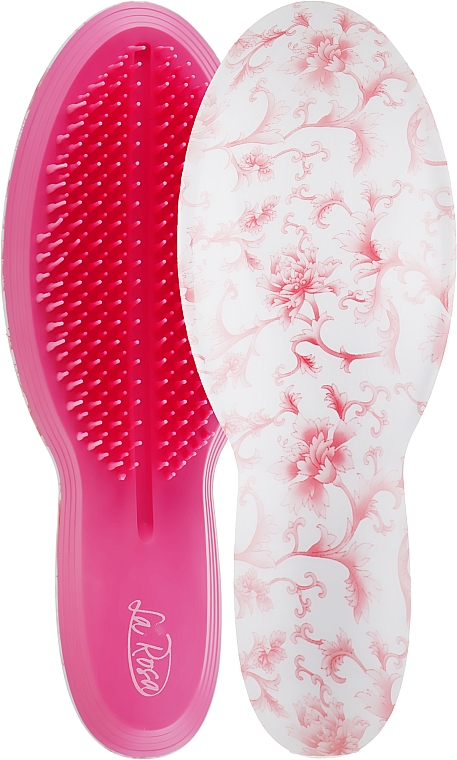 Расческа для волос, 9503, розовые цветы - La Rosa