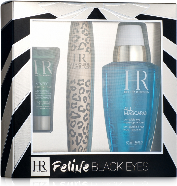 Набор - Helena Rubinstein Lash Queen Feline Blacks Mascara (mascara/7.2ml + lot/50 ml + eye/care/3ml)