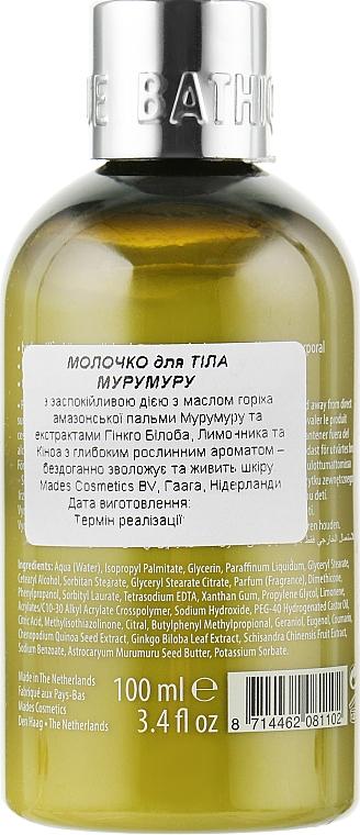 Косметический набор «Мурумуру» - Mades Cosmetics Bathique Fashion Murumuru Set (sh/gel/100ml + b/milk/100ml)  — фото N6