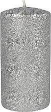 Духи, Парфюмерия, косметика Декоративная свеча серебряная, 7х10см - Artman Glamour