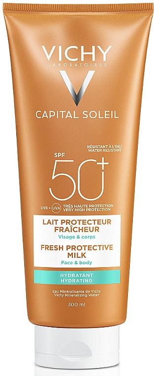 Солнцезащитное освежающее увлажняющее молочко для лица и тела, SPF50+ - Vichy Capital Soleil Fresh Protective Milk SPF50+