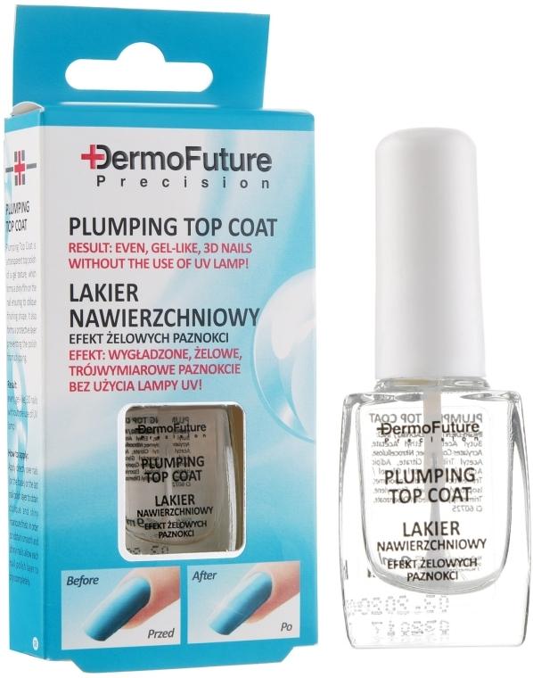 Лак для ногтей с гель-эффектом - Dermo Future Precision Plumping Top Coat — фото N1