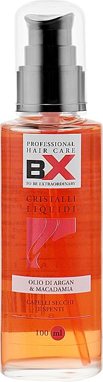 Жидкие кристаллы для сухих и тусклых волос - BX Professional Olio di Argan & Macadamia Cristalli Liquidi