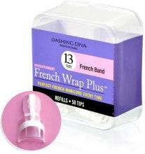 "Духи, Парфюмерия, косметика Типсы узкие ""Френч Смайл+"" - Dashing Diva French Wrap Plus White 50 Tips (Size-13)"