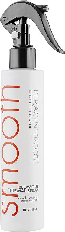 """Несмываемый спрей-кондиционер для волос """"Экспресс кератин"""" - Organic Keragen Smooth Blow Out Thermal Spray"""