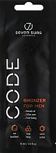 """Духи, Парфюмерия, косметика Крем-бронзант для солярия """"Специальная формула для мужчин"""" - 7Suns Bronzer For Men (пробник)"""