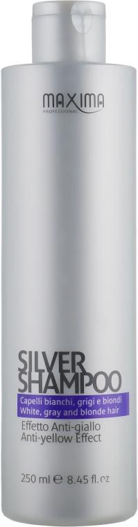 Шампунь против желтизны волос - Maxima Silver Shampoo