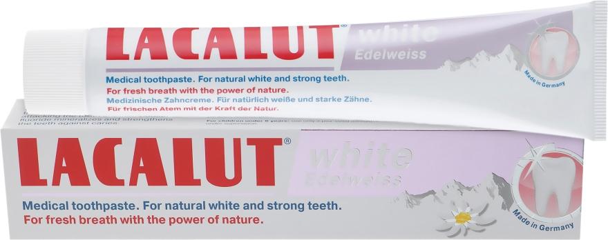 """Зубная паста """"Вайт эдельвейс"""" - Lacalut White Edelweiss Toothpaste"""