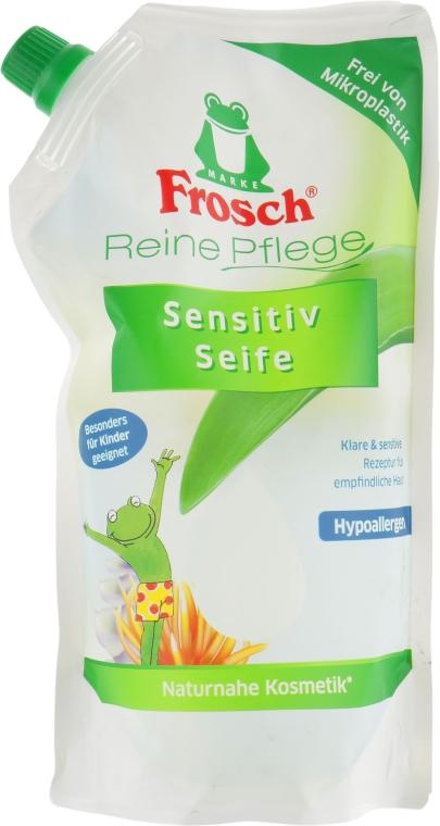 Детское жидкое мыло - Frosch Kids Sensitive Soap (дой-пак)