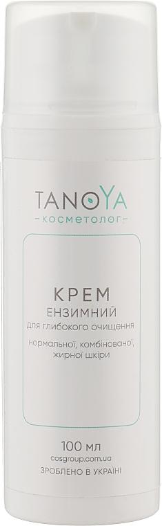 Крем энзимнымый для глубокой очистки нормальной, комбинированной, жирной кожи - Tanoya Косметолог