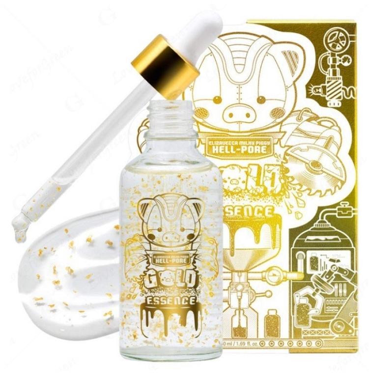 Эссенция для лица с частицами 24к золота - Elizavecca Milky Piggy Hell-Pore Gold Essence