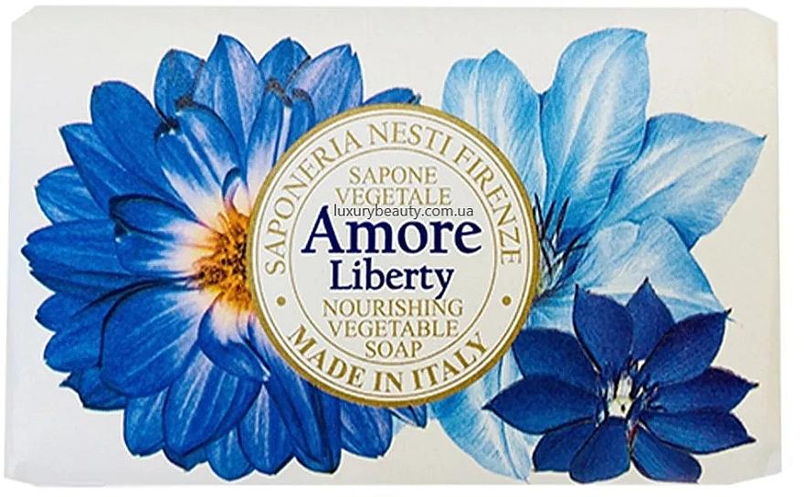Мыло с ароматом бергамота, ветивера и морской лилии - Nesti Dante Amore Liberty Nourishing Vegetable Soap